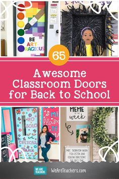What better way to welcome your students than these ideas for bright classroom doors. (They make great bulletin boards, too!) Back To School Meme, First Day Of School, Classroom Door, Classroom Displays, Classroom Ideas, We Are Teachers, Letter To Parents, School Bulletin Boards, Student Reading