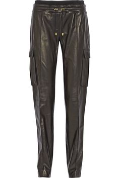 e745a9da3dea BALMAIN Leather Straight-Leg Pants.  balmain  cloth  pants Straight Leg  Pants