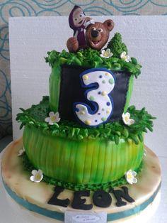 Torta Masha y el oso