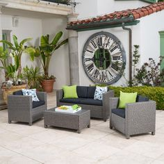 Best Choice Products 7pc Rattan Wicker Bar Dining Table Patio Furniture Set Oasis Pinterest Sets And