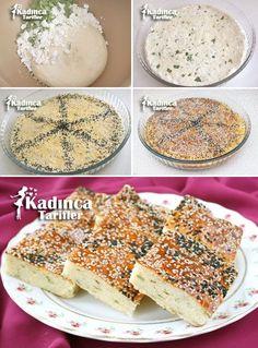 Peynirli Maydanozlu Tepsi Çöreği Tarifi