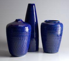 Gunnar Nylund for Boveskov Stentøj Stonewear Vase in blue