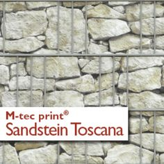 M-tec print PVC Sichtschutzstreifen Motiv Sandstein Toscana
