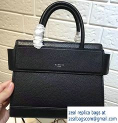 Givenchy Grained Leather Horizon Mini/Small Satchel Bag Black