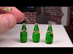 DIY Perrier Style Miniature Mineral Water (Fake food) ペリエ風ミニチュアミネラルウォーター作り - YouTube