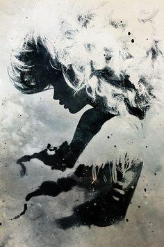 FANTASY ART PRINT Knockin on Heaven/'s Door Alex Cherry