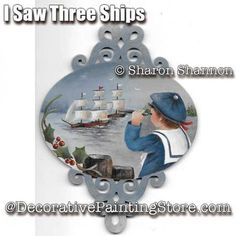 I Saw Three Ships ePattern - Sharon Shannon - PDF DOWNLOAD