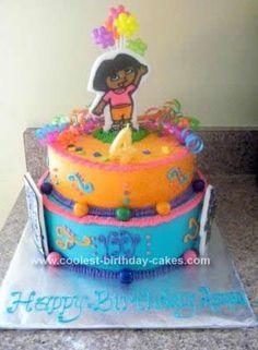 Homemade Dora Birthday Cake Idea