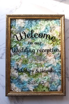 爽やかな風の吹くようなウェルカムボード Wedding List, Friend Wedding, Wedding Signs, Diy Wedding, Wedding Reception, Wedding Welcome Board, How To Preserve Flowers, Wedding Gallery, Wedding Images