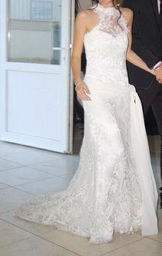 Robe de mariée Cymbeline en soie et dentelle d'occasion