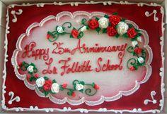 Birthday Sheet Cakes for Women | Sheet cake that reads Happy 25th Anniversary La Follette School