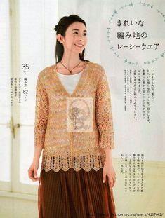 "Photo from album ""Lady Boutique Series on Yandex. Crochet Shirt, Crochet Top, Ladies Boutique, Album, Knitting, Lady, Pattern, Shirts, Yandex Disk"