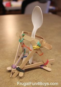 Simple DIY Catapult ~ perfect for launching Halloween Candy or other small objects