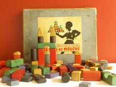 Jeu de construction ancien pour enfant  par LeGrenierDeFrancine