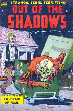 Out Of The Shadows 11 Comic Book Cover Art Giclee Reproduction on Canvas - Bible Art - Out Of The Shadows 11 Comic Book Cover Art Giclee Reproduction on Canvas Price : Vintage Comic Books, Vintage Comics, Comic Books Art, Comic Art, Vintage Magazines, Creepy Comics, Horror Comics, Horror Art, Crime Comics