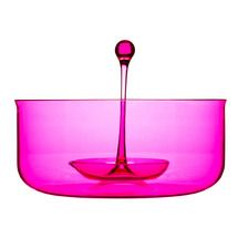 Love this modern hot pink punch bowl.
