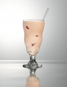 Yum Alert!  Adult PB Milkshake with Van Gogh PB Vodka, milk, vanilla ice cream, banana, peanut butter, and fresh raspberries.