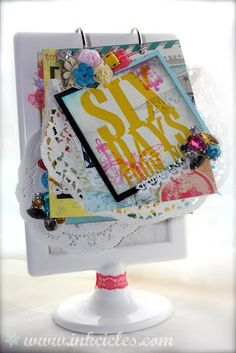 Heidi Swapp style project on an IKEA base Mini Scrapbook Albums, Scrapbook Cards, Mini Albums, Craft Activities For Kids, Crafts For Kids, Ikea Picture Frame, Heidi Swapp, Paper Crafts, Diy Crafts