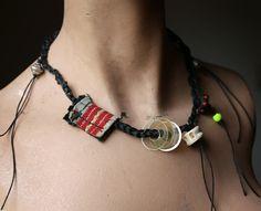 LaTouchables - Swept Away, a Tribal Fibre Necklace