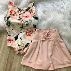 Amei , SUPER NA MODA E O BORY BEM DESCOLADO;- Short Outfits, Outfits For Teens, Spring Outfits, Cool Outfits, Casual Outfits, Fashion 2018, Look Fashion, Girl Fashion, Fashion Outfits