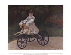 """Product ID#: 25614  Title: Jean Monet on His Hobby Horse, 1872  Artist: Claude Monet  Type: Fine-Art Print  Paper Size: 14"""" x 11"""