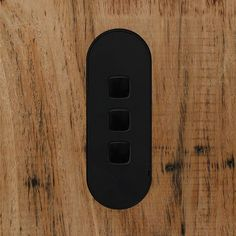 Matte black arriving soon. Our three gang switch grid mounted flush in timber. Available in & 5 gang. Integrates with veneer and timber seamlessly. Australian Architecture, Interior Architecture, Interior Design, Matte Black, Lighting Design, Furniture Design, Grid, Wax, Architecture Interior Design