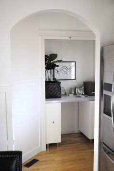 flourish design + style: [project] turning an unused closet into a great workspace