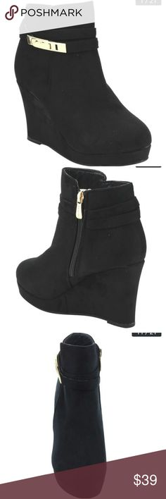 Wedge Booties Suede wedge booties Shoes Ankle Boots & Booties