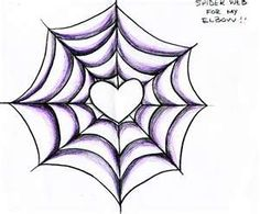 SpiderWeb - Elbow Tattoo Would make a cute Halloween card