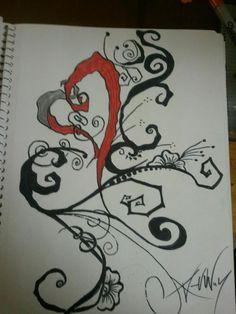 Tim Burton Style Tattoo by Alexandreyeva.deviantart.com