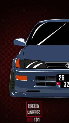 Wallpaper Cars, Car Wallpapers, Toyota Corolla, Toyota Celica, Rims For Cars, Mitsubishi Lancer Evolution, Car Illustration, Toyota Cars, Car Posters