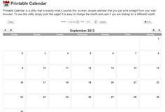Printable Calendar – imprime calendarios mensuales de forma facil