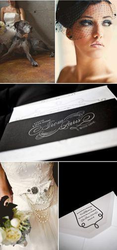 Lace, Black and White Wedding Photo Shoot