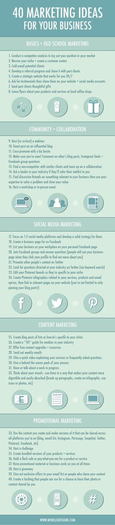 40 Marketing Ideas For Your Business - #infographic