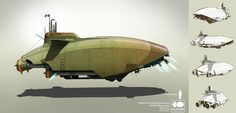 concept ships: 3D ships by Alan Quiroz