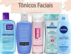 5 Opções de Tônico facial bons e baratos, inclusive sem álcool, para pele sensível, seca, normal, mista e oleosa, com dicas de como usar.