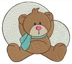 Winter Bear 4 - 4x4 | Winter | Machine Embroidery Designs | SWAKembroidery.com Fancy Fonts Embroidery