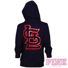 St. Louis Cardinals Victoria's Secret PINK® Bling Wide Neck Perfect Full Zip Hood - MLB.com Shop
