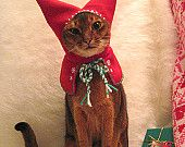 Items similar to Jovie the Elf Cat Hat Christmas Pet Costume on Etsy, a global handmade and vintage marketplace.