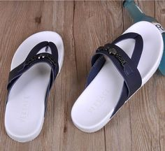 Versace Horsebit Thong Sandal Blue