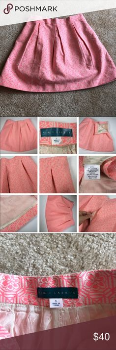 •Pim + Larkin• Pleated Patterned Skirt Adorable skirt that was worn once. Size small. Anthropologie Skirts Mini