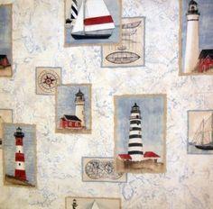lighthouse shower curtain - guest bathroom | bathroom | pinterest