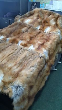 Fur Blanket, Fur Throw, Soft Blankets, Fox Fur, Furs, Glamping, Fur Coat, Etsy, Fox Tails