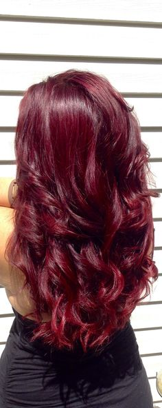 Red Violet hair. Igora #hairwithclare