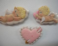 Ceramic Valentine,cupid,heart refrigerator magnets set of three Valentine Cupid, Valentines, Valentine Decorations, Christmas Decorations, Ceramic Christmas Trees, Converse With Heart, Decorating With Christmas Lights, Refrigerator Magnets, Candy Dishes