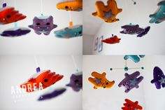 Plush #monsters make a super cute #mobile to scare off the real monsters! #nursery