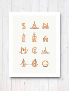 San Francisco Print by Matt Chalwell– Armada Print Co.