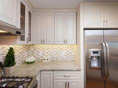 Tumbled Stone and Glass Tile Backsplash >> http://www.diynetwork.com/blog-cabin/blog-cabin-2013-kitchen-pictures/pictures/index.html?soc=bc