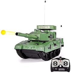 RC Tank Radio Remote Control Military Battle Tank Shoots Soft BB Full Function RC Airsoft Battle Tank that Shoots BB Bullets. Function: Forward, Backward, Left, Right, Fire. Includes Pack of 100 Airsoft BBs (Bullets: 6mm). Factory pre-assembled ready to run, RTR. Tank Measures: 10  L x 5  H x 4  W. Batteries Required (NOT included). Ages 3 Up 27 MHz New, purchased for resale by Keywebco Video inspected when shipped Ships Fast and Free from the USA The item for sale is pictured and described…