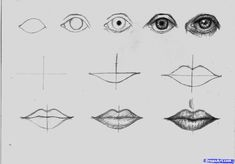 how to draw lips step by step with pencil - Google Search